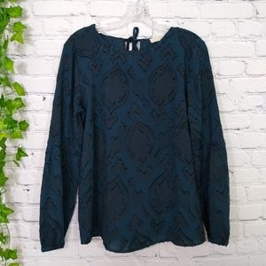 LOFT women's top embroidered small